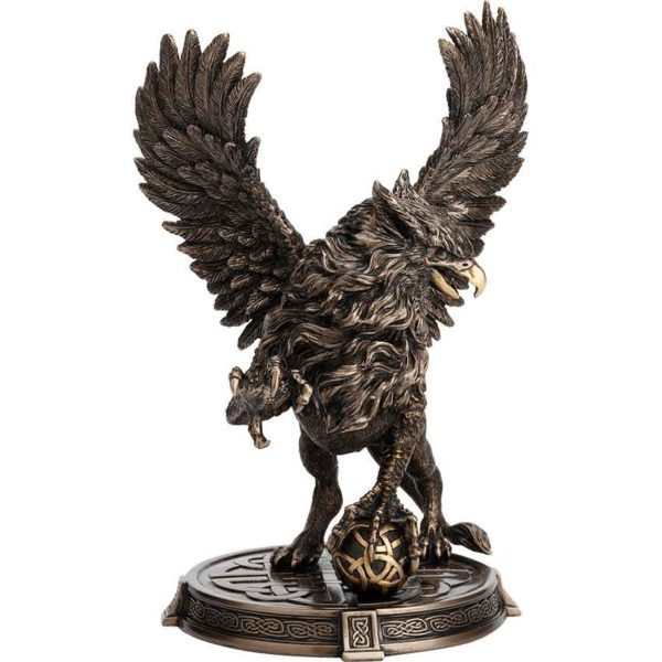 Celtic Griffin with Orb Statue