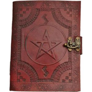Stamped Pentacle Journal with Lock