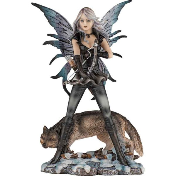 Fairy with Wolf Statue
