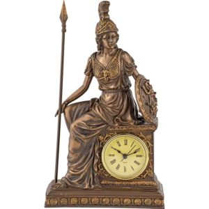 Bronze Athena Clock