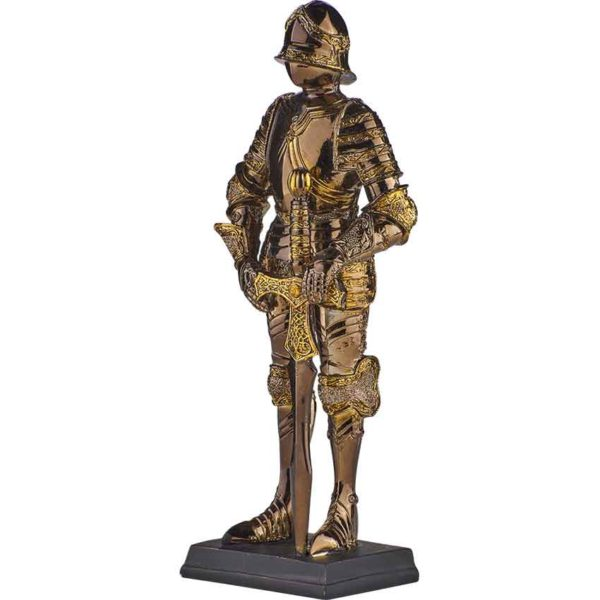 Medieval Knight with Ornate Sword Statue