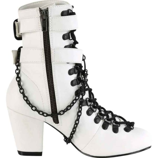 Gothic Coffin Buckle Boots