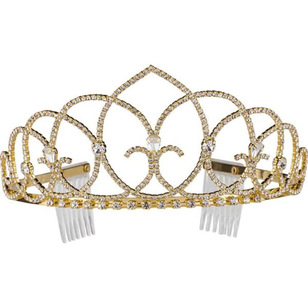 Vaulted Ceiling Tiara with Combs