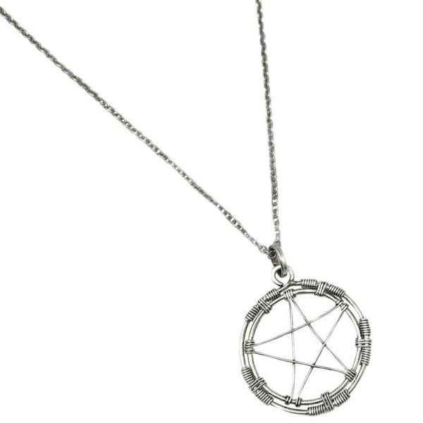 Wiccan Wire Pentacle Necklace