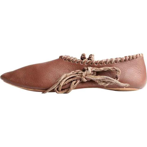 13th Century Light Leather Shoes
